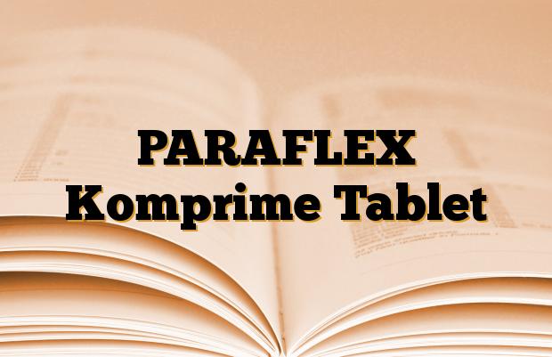 PARAFLEX Komprime Tablet