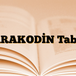 PARAKODİN Tablet