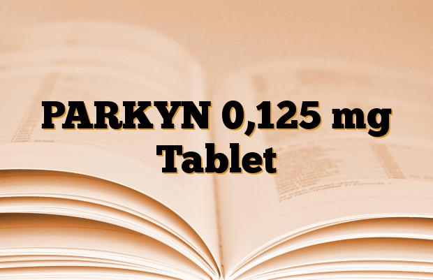 PARKYN 0,125 mg Tablet