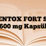 PENTOX FORT SR 600 mg Kapsül