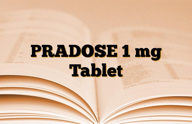 PRADOSE 1 mg Tablet