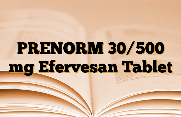 PRENORM 30/500 mg Efervesan Tablet