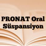 PRONAT Oral Süspansiyon