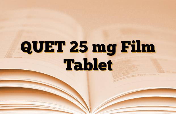 QUET 25 mg Film Tablet