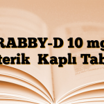 RABBY-D 10 mg Enterik  Kaplı Tablet