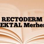 RECTODERM REKTAL Merhem