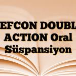 REFCON DOUBLE ACTION Oral Süspansiyon