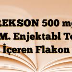 REKSON 500 mg I.M. Enjektabl Toz İçeren Flakon