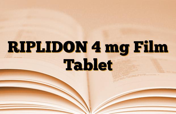 RIPLIDON 4 mg Film Tablet