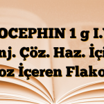 ROCEPHIN 1 g I.V. Enj. Çöz. Haz. İçin Toz İçeren Flakon