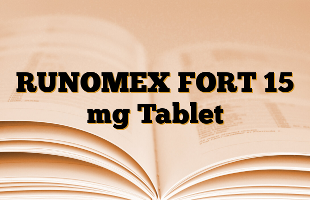 RUNOMEX FORT 15 mg Tablet