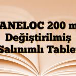 SANELOC 200 mg Değiştirilmiş Salınımlı Tablet