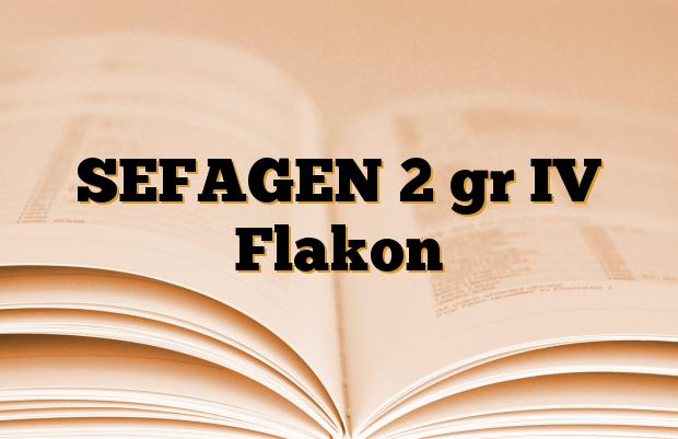 SEFAGEN 2 gr IV Flakon