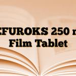 SEFUROKS 250 mg Film Tablet