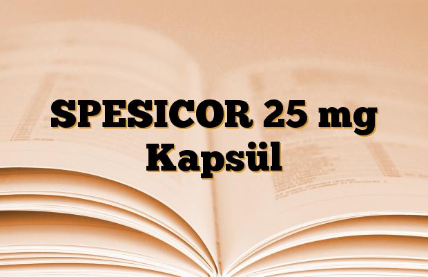 SPESICOR 25 mg Kapsül