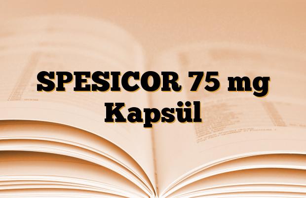 SPESICOR 75 mg Kapsül