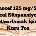 Sanocef 125 mg/5 ml Oral Süspansiyon Hazırlamak İçin Kuru Toz