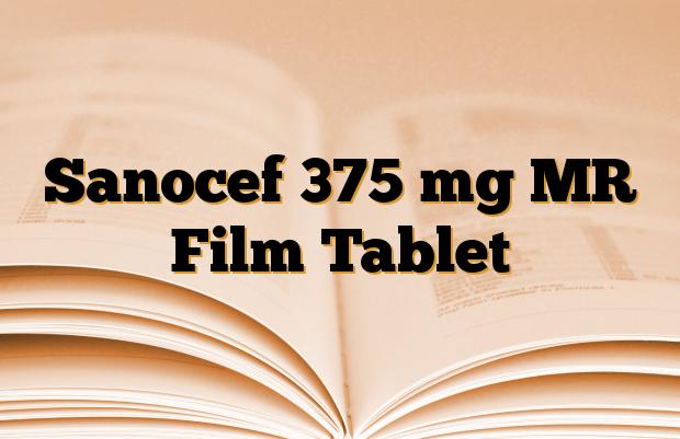 Sanocef 375 mg MR Film Tablet