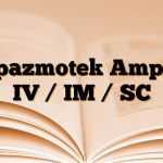 Spazmotek Ampul IV / IM / SC