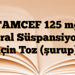 TAMCEF 125 mg Oral Süspansiyon için Toz (şurup)
