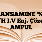 TRANSAMINE %10 A/H I.V Enj. Çözelti AMPUL