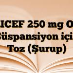 TRICEF 250 mg Oral Süspansiyon için Toz (Şurup)