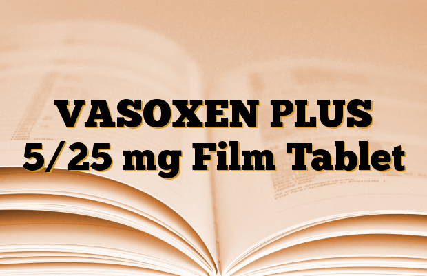 VASOXEN PLUS 5/25 mg Film Tablet