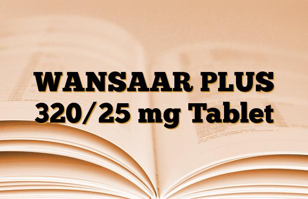 WANSAAR PLUS 320/25 mg Tablet