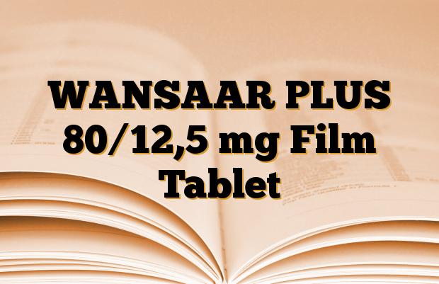 WANSAAR PLUS 80/12,5 mg Film Tablet