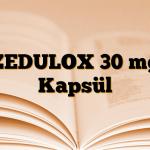 ZEDULOX 30 mg Kapsül