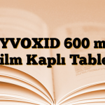 ZYVOXID 600 mg Film Kaplı Tablet