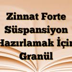 Zinnat Forte Süspansiyon Hazırlamak İçin Granül