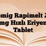 Zomig Rapimelt 2,5 mg Hızlı Eriyen Tablet