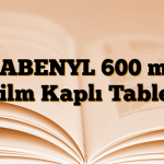 GABENYL 600 mg Film Kaplı Tablet