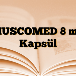 MUSCOMED 8 mg Kapsül