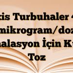Oxis Turbuhaler 4,5 mikrogram/doz İnhalasyon İçin Kuru Toz