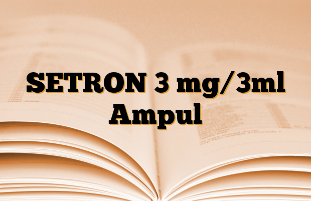 SETRON 3 mg/3ml Ampul
