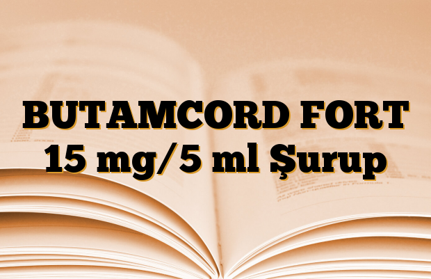 BUTAMCORD FORT 15 mg/5 ml Şurup