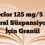 Ceclor 125 mg/5 ml Oral Süspansiyon İçin Granül