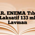 K.R. ENEMA Tıbbi Laksatif 133 ml Lavman