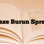 Naze Burun Spreyi