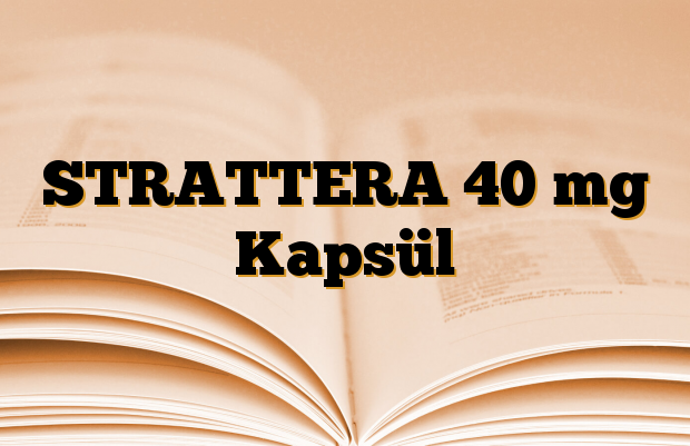 STRATTERA 40 mg Kapsül