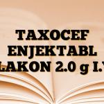 TAXOCEF ENJEKTABL FLAKON 2.0 g I.V.