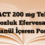 ACT 200 mg Tek Dozluk Efervesan Granül İçeren Poşet