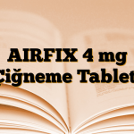 AIRFIX 4 mg Çiğneme Tableti