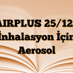 AIRPLUS 25/125 İnhalasyon İçin Aerosol