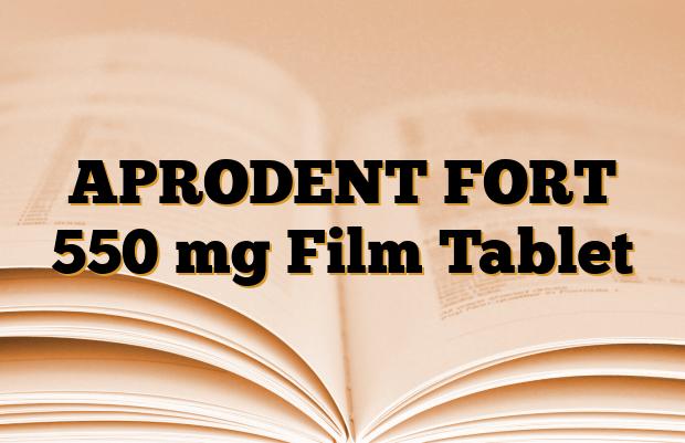 APRODENT FORT 550 mg Film Tablet