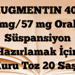 AUGMENTIN 400 mg/57 mg Oral Süspansiyon Hazırlamak İçin Kuru Toz 20 Saşe