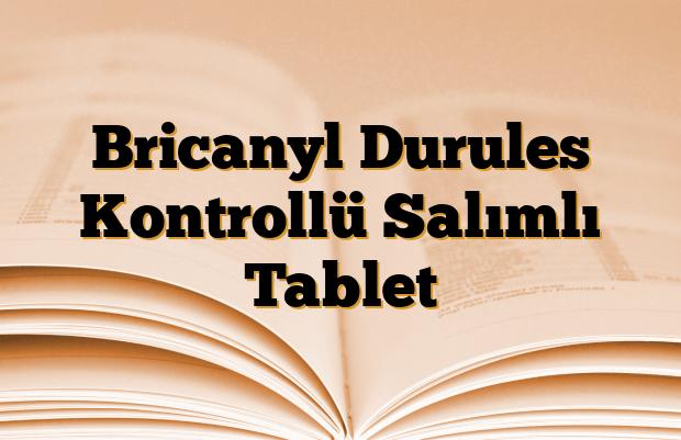 Bricanyl Durules Kontrollü Salımlı Tablet