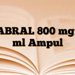 CABRAL 800 mg/3 ml Ampul